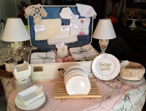 Vintage Linens Craft Show Display