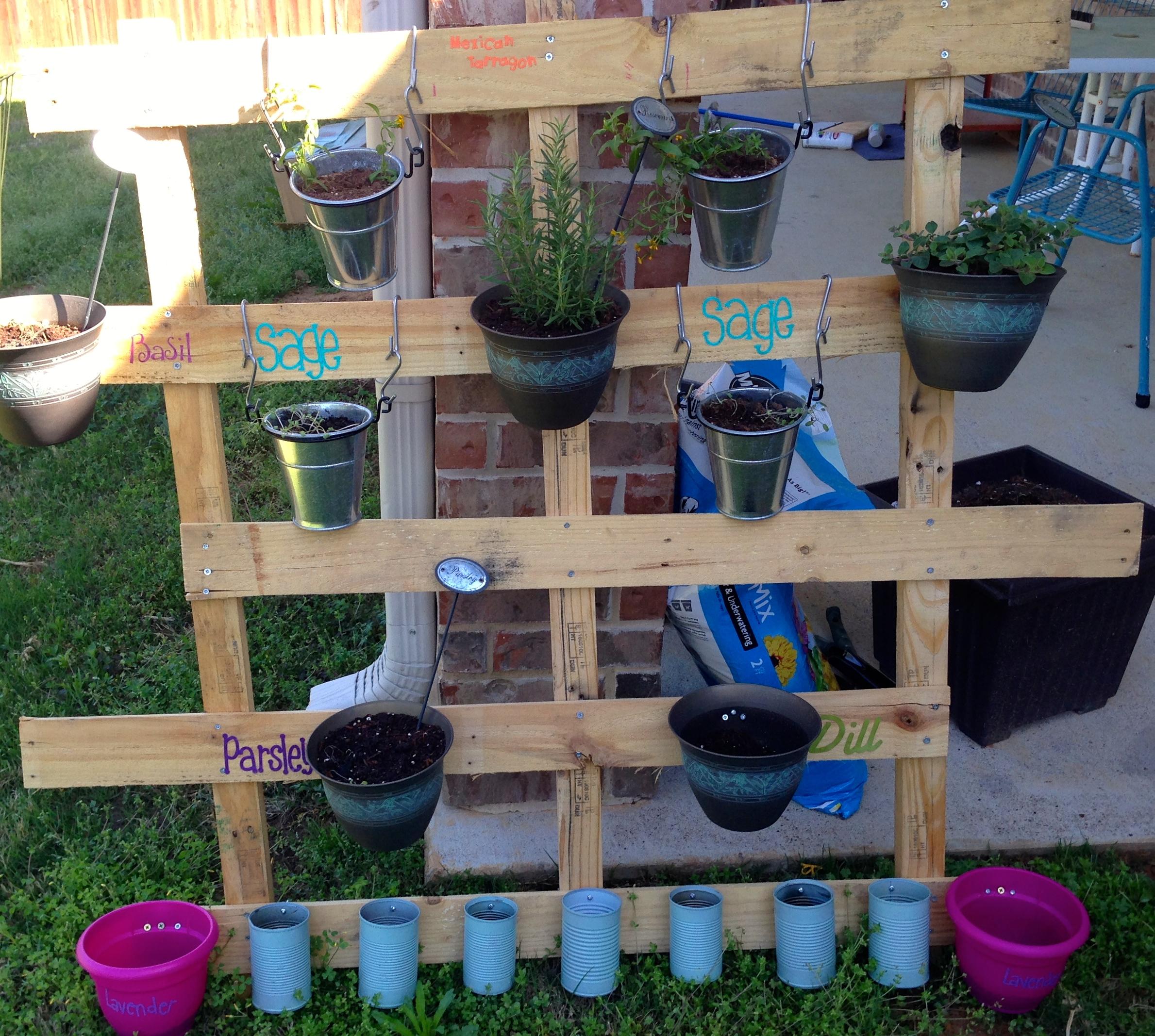 Pallet Inspired Vertical Herb Garden